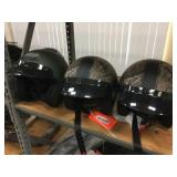 3 helmets size M & 2 are size L