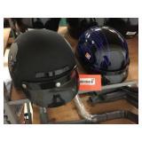 2 half coverage helmets size M & L