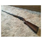 Marlin model 38 .22 S-L-LR pump action rifle.