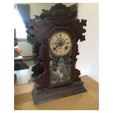 Ansonia 8 day mantle clock 14x5x22