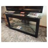 Tv stand with glass shelves 42x19x22