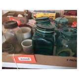 Glass jars & assorted