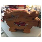 1957 Chevy Wood piggy bank 10 inch x 7 inch