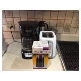 Coffee maker, toaster & assorted