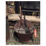 Ash bucket & tools