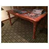 Wood table 59x35
