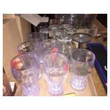 Wine glasses & plastic glasses