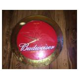 Electric Budweiser clock 17.5 inch diameter