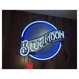 Blue Moon neon sign 18 inch diameter