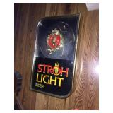 Strohs light up sign 11x19