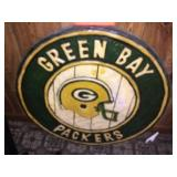 Wood carved Packer sign 23 inch diameter