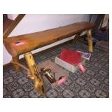 Rustic bench 59 inches long