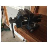 3.5 inch shop vise. Attached to bench, bring