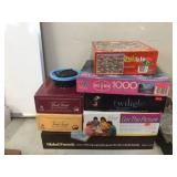 Assorted board games & puzzles