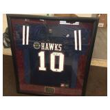 Framed & signed Favre high school jersey with