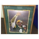 Framed & signed Favre picture with hologram & COA