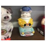 Pig covered cookie jar
