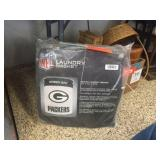 Packers canvas laundry basket 17x17x21