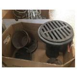 Cast iron drain & assorted