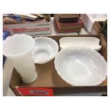 Vase, bowls & assorted