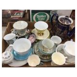 Teapot, cups, saucers & assorted