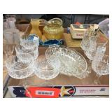 Crystal stemware & assorted