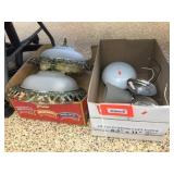 2 boxes of assorted light fixtures