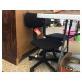 2 adjustable height desk chairs on wheels