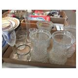Glass vases & assorted