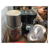 Stainless thermos, chopper & coffee maker