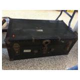Hinged metal trunk 31x17x13