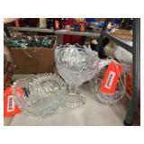 Crystal basket & bowls