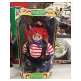 Porcelain clown baby doll 13 inches tall