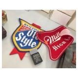 Miller & Old Style patches & lighter