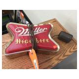 Lighted Miller High Life sign 9x7