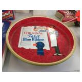 Pabst Blue Ribbon metal tray