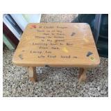 Wood stool 11x9x8