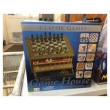 Wood game house with 10 games