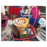 Baskets, chalk & fun foam kits