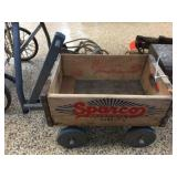 Wood crate wagon 16x10x10