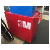 2 door metal cabinet on wheels 33x20x35