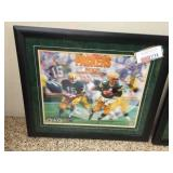 Framed & signed Packers MVP quarterbacks. Starr &