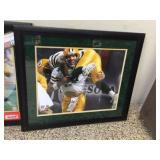 Framed & signed Favre photo  with COA & hologram