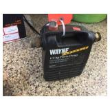 Wayne 1/2 HP ports pump