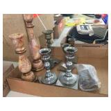 Assorted candle sticks