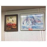 2 framed decorator pictures