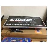 Castle X lighted sign 29x15