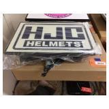 Lighted HJC helmets sign 22x14