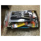 Steel brushes, line trimmer spools & assorted