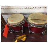 Damaged bongo drums